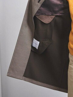 Gun Club Check Raglan Coat 1125-139-7365: Beige