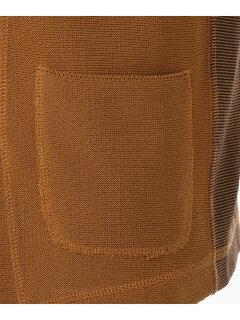J. Press Riviera Slim Cotton Knit Waistcoat VROVKM0211: Brown