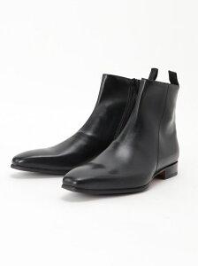 around the shoes ジップブーツ タカキュー シューズ ショートブーツ/ブーティー ブラック ブラウン【送料無料】