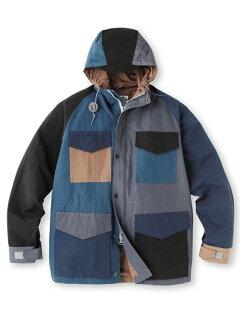 Crazy Pattern Hooded Jacket 387-57003: Black