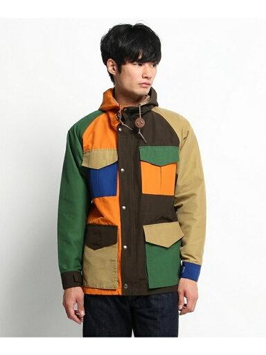 Crazy Pattern Hooded Jacket 387-57003: Blue