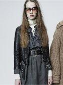 【SALE/10%OFF】beautiful people shrink leather riders jacket ビューティフル ピープル コート/ジャケット【RBA_S】【RBA_E】【送料無料】