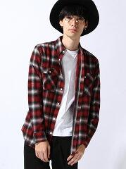 WEGO メンズ シャツ/ブラウス ウィゴー【送料無料】WEGO (M)オンブレチェックレギュラーシャツ ...