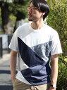 【SALE/50%OFF】UNION STATION マルチ切り替えデザインTシャツ メンズ ビギ カットソー【RBA_S】【RBA_E】