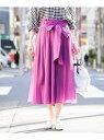 【WEB限定カラー】【洗える】コットンシフォンギャザースカート ミッシェルクラン スカート【送料無料】