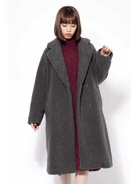 ROSE BUD [otonaMUSE12月号掲載]ロングボアコート ローズバッド コート/ジャケット【送料無料】