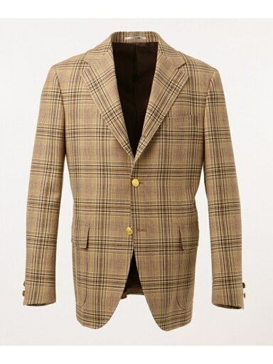 J. Press Lyria Fancy Check Sack Blazer BZOVKW0030: Brown