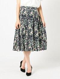 MEW'S REFINED CLOTHES ウエスト配色フラワースカート