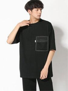 SUPERTHANKS SUPERTHANKS/MESH POCKET T-SHIRT ウィズム カットソー Tシャツ ブラック ホワイト【送料無料】