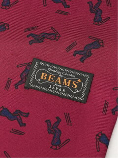 Beams Plus Silk Cricket Scarf 11-45-0782-107: Red