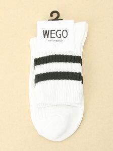 WEGO レディース ファッショングッズ ウィゴー 【ST_新作】WEGO 2ラインソックス ウィゴー