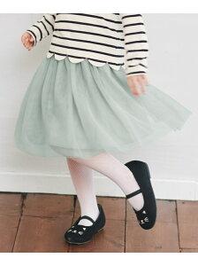 any FAM KIDS 【140-150cm】チュールスカート エニィファム スカート スカートその他 グリーン ベージュ パープル