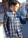 【SALE/70%OFF】RATTLE TRAP オンブレーチェックオープンカラーシャツ メンズ ビギ シャツ/ブラウス【RBA_S】【RBA_E】