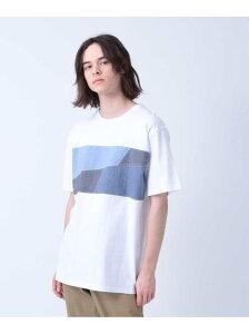 【SALE/65%OFF】tk.TAKEO KIKUCHI パッチワーク切り替えTシャツ ティーケータケオキクチ カットソー Tシャツ ホワイト ブラック ネイビー