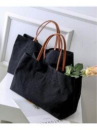 florist 3size A4対応大きめコットンキャンバススクエアトートバッグ フローリスト バッグ トートバッグ ブラック ホワイト