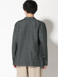 Cotton Ramie Glen Plaid 3-button Sport Coat 11-16-1575-887: Charcoal
