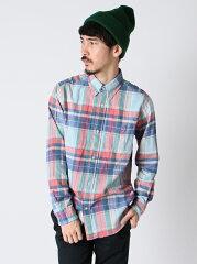 【セール】coen ビエラチェックBDシャツ