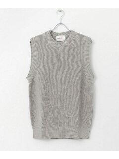 Vincent et Mireille Crewneck Sweater Vest VM191NL1301: Grey