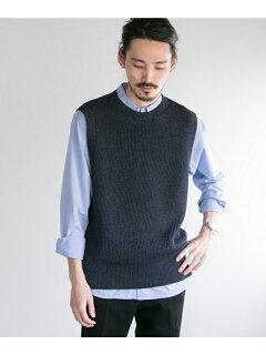 Vincent et Mireille Crewneck Sweater Vest VM191NL1301: Navy