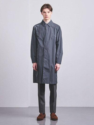 Nylon Taffeta Raglan Coat 1125-120-7803: Dark Grey