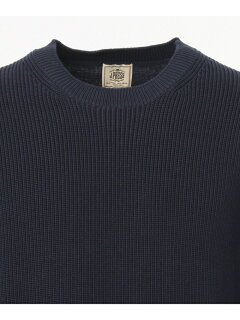 J. Press Houston Gass Crewneck Sweater KROVBM0200: Navy