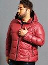 HIDEAWAYS(大きいサイズ) <大きいサイズ>フード付きダウンブルゾン ニコル コート/ジャケット【送料無料】