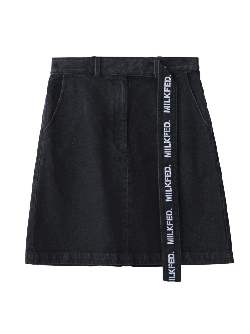 MILKFED.(ミルクフェド)『LOGO BELT DENIM SKIRT』