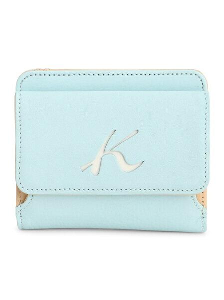Kitamura(W)二折財布PH0539キタムラ財布/小物財布ブルーブラウンネイビーベージュオレンジ