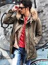 RATTLE TRAP 3WAYリアルファーモッズコート メンズ ビギ コート/ジャケット【送料無料】