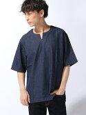 【SALE/5%OFF】JUNRed ライトデニムコンビTシャツ ジュンレッド カットソー【RBA_S】【RBA_E】【送料無料】