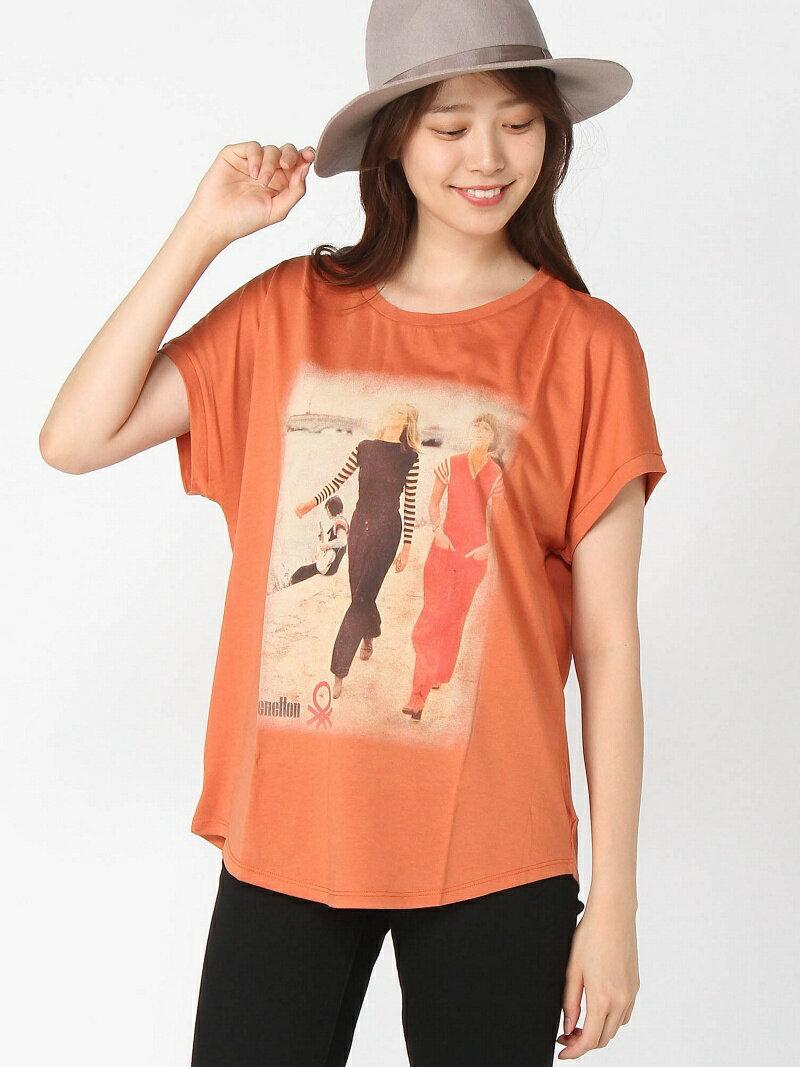 トップス, Tシャツ・カットソー SALE50OFFBENETTON (W)T RBASRBAE