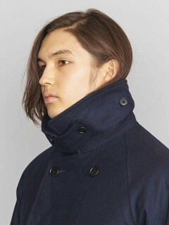 Flannel Padded Peacoat 1225-139-8920: Navy