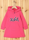 【SALE/40%OFF】X-girl Stages SWEAT HOODED DRESS LOGO 100cm エックスガールステージス カットソー【RBA_S】【RBA_E】【送料無料】