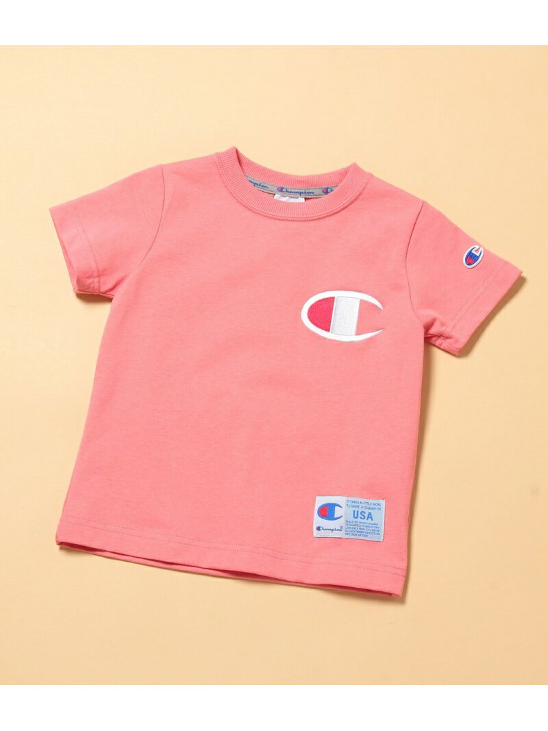 ROPE' PICNIC 【ROPE'PICNICKIDS】【Champion】BIGCマークTシャツ ロペピクニック カットソー カットソーその他 ピンク ブルー