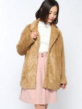 ファーへちま衿コート