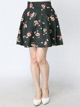ボタニカル中花スカートパンツ