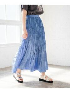 【SALE/33%OFF】PAGEBOY サテンワッシャープリーツSK ページボーイ スカート プリーツスカート/ギャザースカート ブルー グリーン グレー ブラック