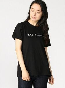 To b. by agnes b. To b. by agnes b. /(W)【WEB限定】W984 TS ロゴTシャツ アニエスベー カットソー Tシャツ ブラック ホワイト【送料無料】
