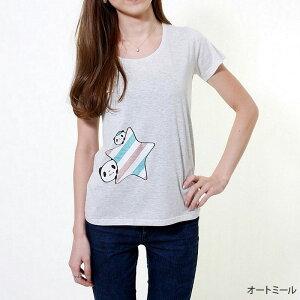 お買いものパンダ お買い物パンダ/レディースTシャツ おかいものぱんだ