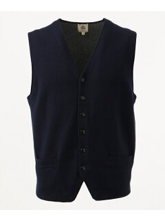 J. Press Cotton Cashmere Sweater Waistcoat KROVKS0062: Navy