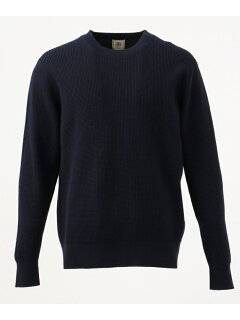 J. Press Cotton Cashmere Crewneck Sweater KROVKS0064: Navy