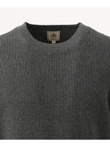 J. Press Cotton Cashmere Crewneck Sweater KROVKS0064: Grey