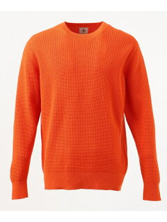 J. Press Cotton Cashmere Crewneck Sweater KROVKS0064: Orange