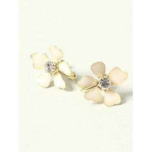 CECIL McBEE Pendiente Epo Flower Cecil McBee Accesorios Pendientes Blanco Rosa Azul