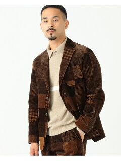 Patchwork Corduroy Sack Sport Coat 11-16-1668-803: Brown