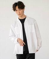【SALE/66%OFF】coen ポリレーヨンオープンカラーシャツ コーエン シャツ/ブラウス 長袖シャツ ホワイト ブラック