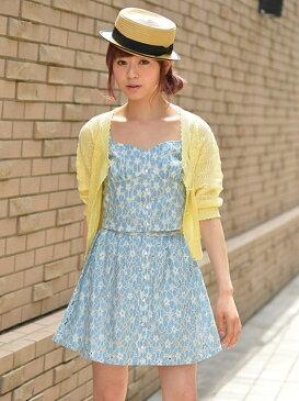 【SALE/60%OFF】Pinky Girls フラワーレースキャミソール ラクテンファッション アウトレット カットソー キャミソール ブルー ピンク ホワイト
