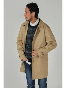 【SALE/70%OFF】ikka フーデッドステンカラーコート イッカ コート/ジャケット ロングコート ベージュ ブルー ホワイト