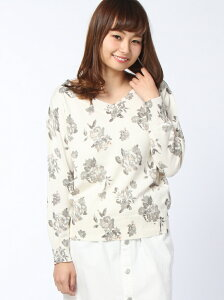 【SALE/50%OFF】NICE CLAUP 花柄ニット ワンアフターアナザー…