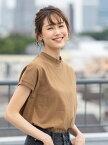 coen 【WEB限定カラーに新色ブラウン登場】USAコットンハイネックTシャツ コーエン カットソー